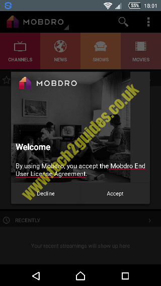 MobDro ( APK ) Android tv box/device App - tech2guides co uk