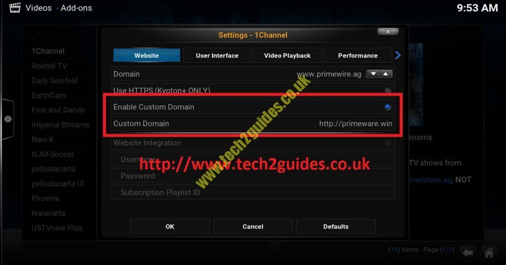 How-To] - Setup primewire (1channel) URL Fix - tech2guides.co.uk